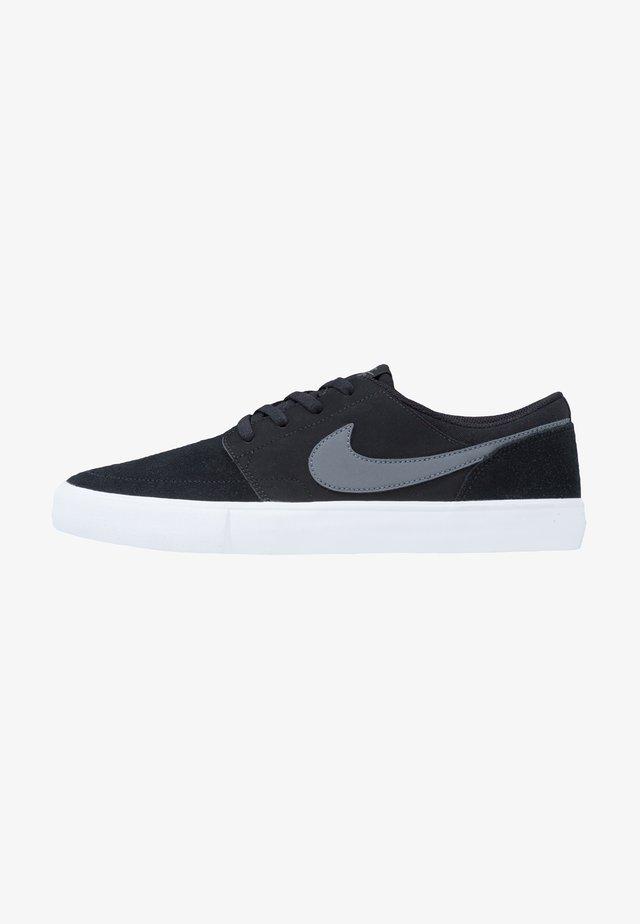 PORTMORE II SOLAR - Skateboardové boty - black/dark grey/white