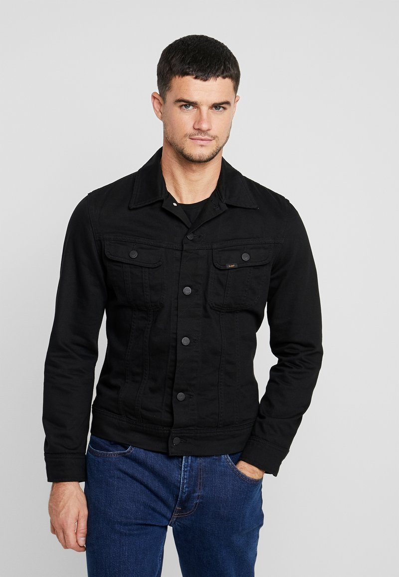 Lee - SLIM RIDER - Denim jacket - black rinse