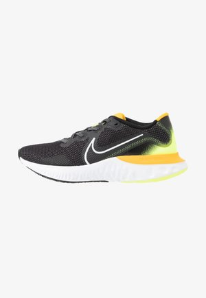 RENEW RUN - Neutrala löparskor - black/white/volt glow/university gold
