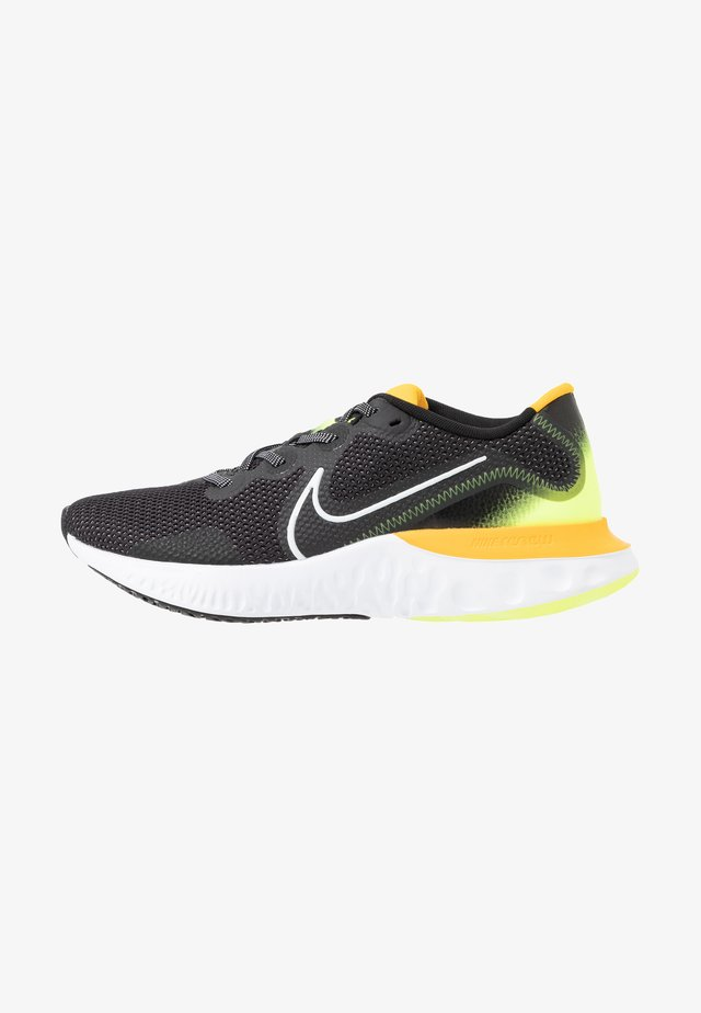 RENEW RUN - Scarpe running neutre - black/white/volt glow/university gold