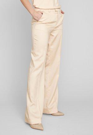 Trousers - pale peach