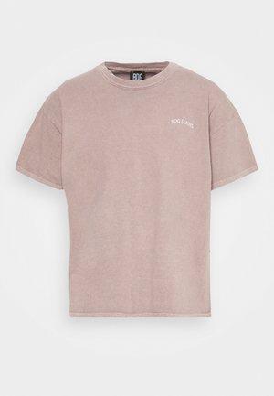 LOGO EMBROIDERED TEE UNISEX - Basic T-shirt - stone
