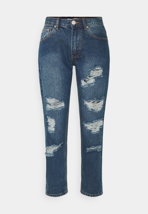 LADIES - Relaxed fit jeans - dark blue wash