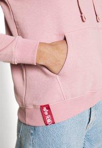 Alpha Industries - NEW BASIC HOODY PRINT - Sweatshirt - silver/pink - 5