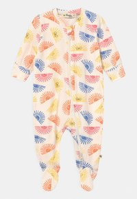 The Bonnie Mob - RELAX PRINTED ZIP FRONT UNISEX - Sleep suit - white/multi-coloured - 0