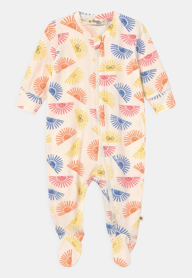 RELAX PRINTED ZIP FRONT UNISEX - Sleep suit - white/multi-coloured