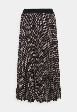 MONOGRAM PLEATED SKIRT - Pleated skirt - black