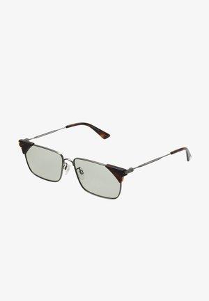Sunglasses - ruthenium/green