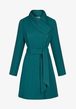 ASYMMETRISCHER - Classic coat - blaugrün