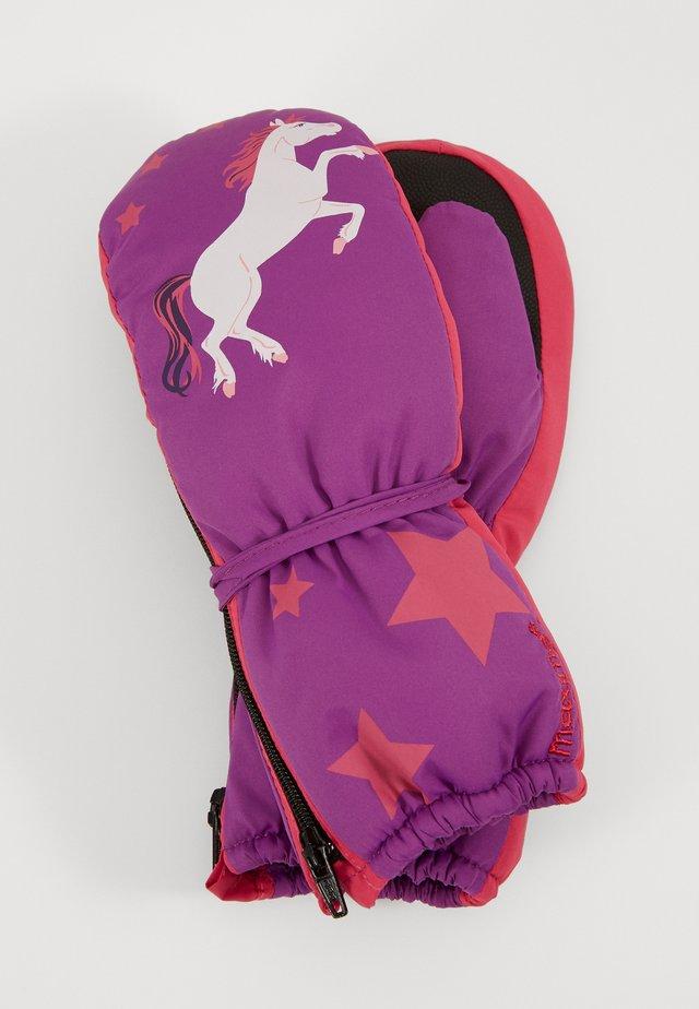 MINI GIRL - Moufles - moorbeere/fuchsia
