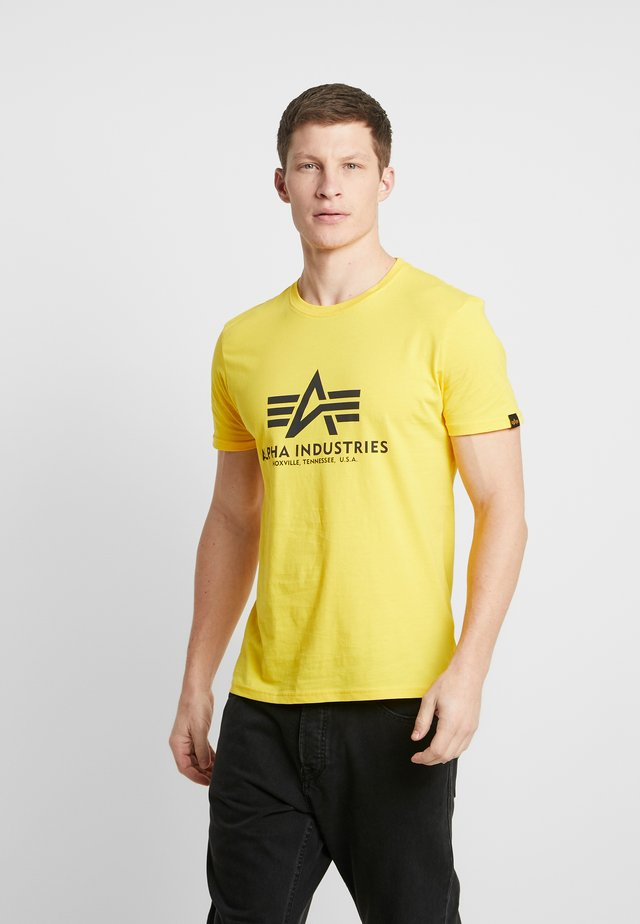 Print T-shirt - empire yellow