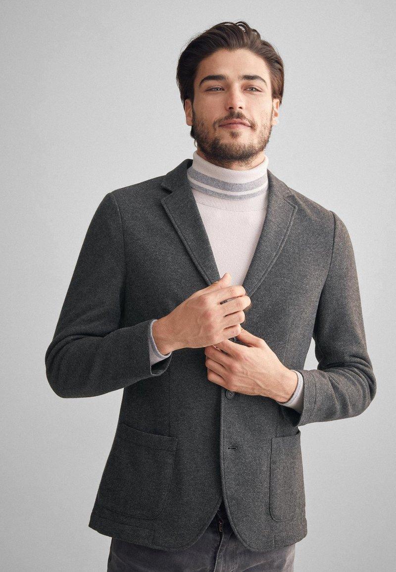 Falconeri - BLAZER AUS KASCHMIRJERSEY - Blazer jacket - grey