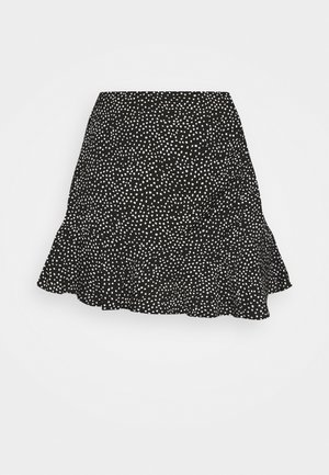 WEBEX RUFFLE SKORT - Mini skirt - black