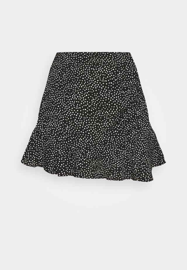 WEBEX RUFFLE SKORT - Minigonna - black