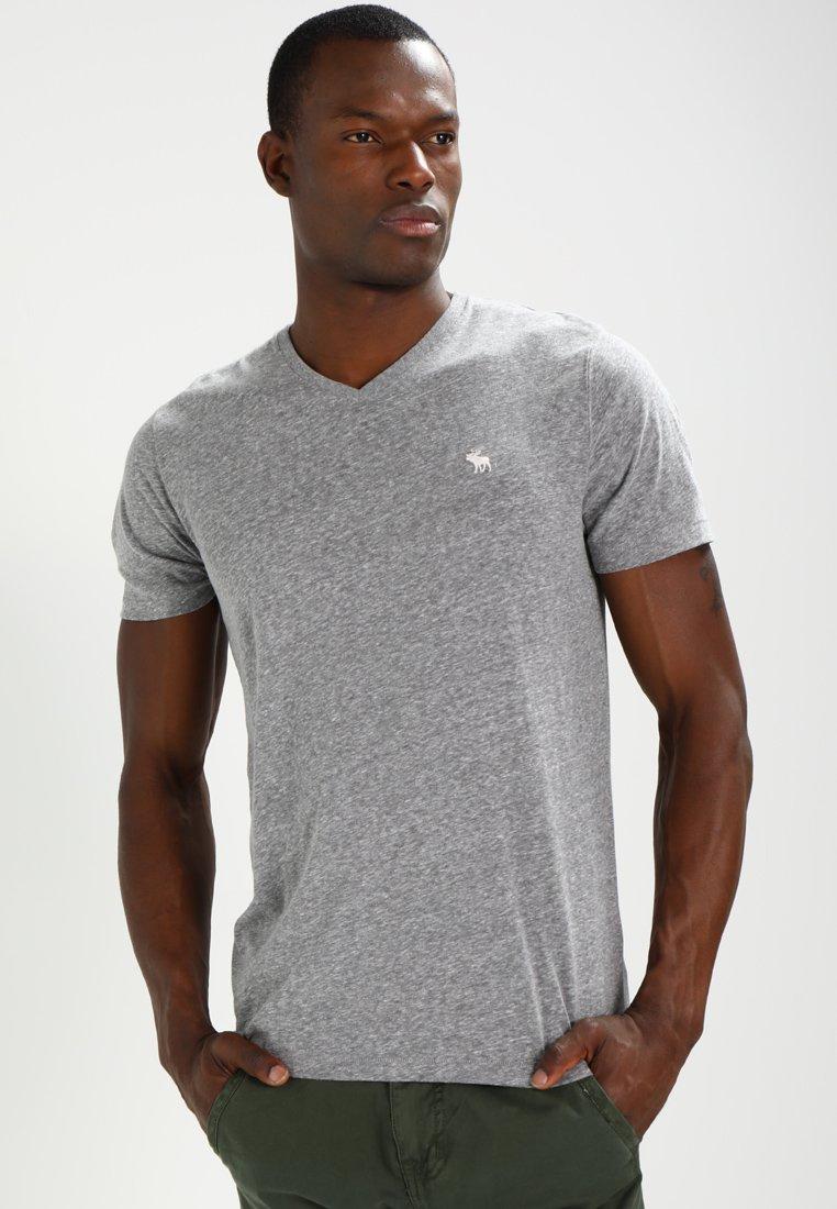 Abercrombie & Fitch Vneck 3 Pack - T-shirts White/black/grey/hvit