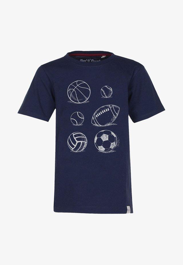 BALLS - Print T-shirt - navy