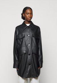 MM6 Maison Margiela - Short coat - black - 0