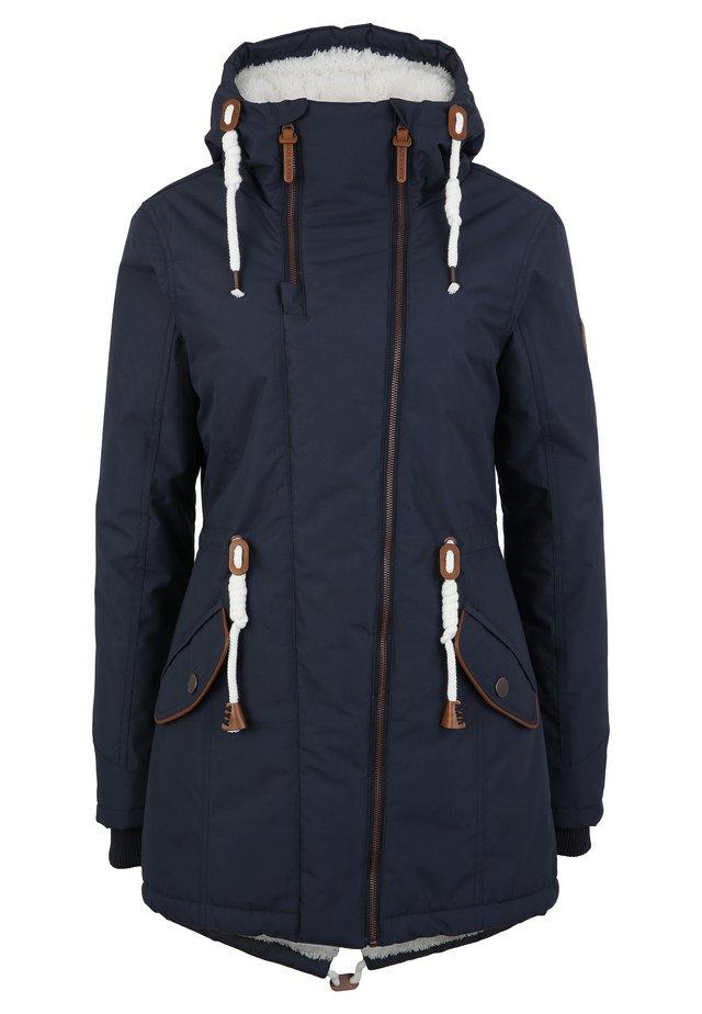 MIT TEDDY INNENFUTTER - Winter coat - blue