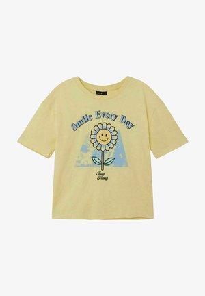 T-shirt imprimé - mellow yellow