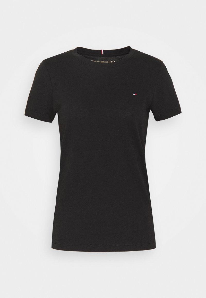 Tommy Hilfiger - HERITAGE CREW NECK TEE - T-Shirt basic - black