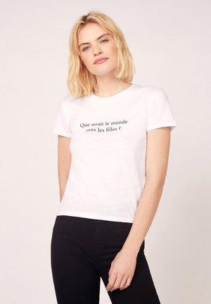 MESSAGE - T-shirt print - z blanc