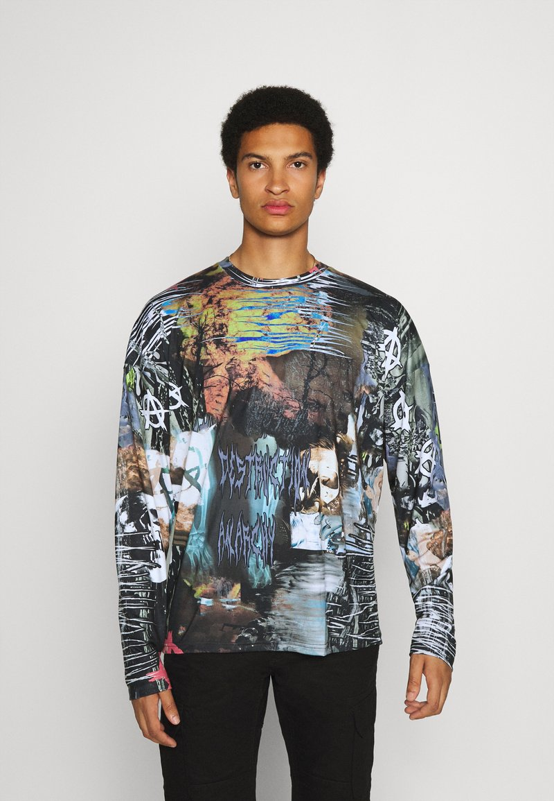 Jaded London - ELECTRIC COLLAGE - Long sleeved top - multi-coloured
