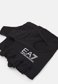 EA7 Emporio Armani - FITNESS GLOVES UNISEX - Fingerless gloves - black - 2