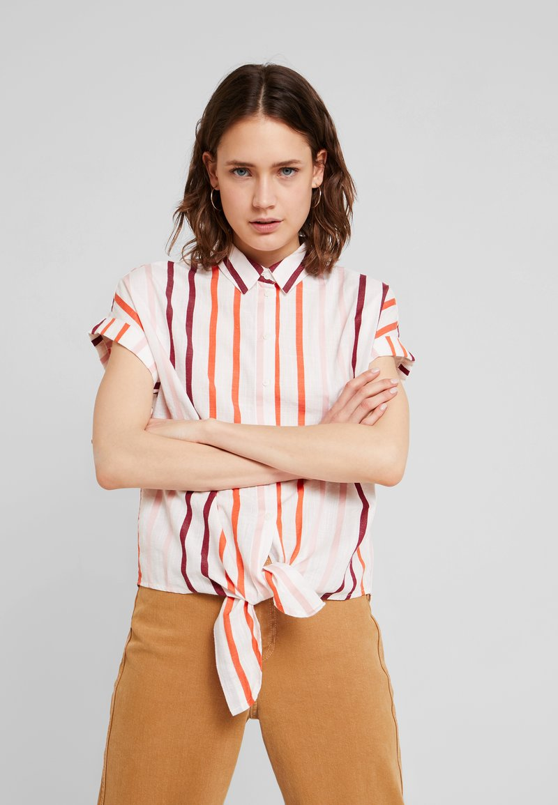 TOM TAILOR - BLOUSE WITH LIGHT STRIPES - Chemisier - offwhite