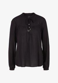 Q/S designed by - MIT TUNIKA-AUSSCHNITT - Long sleeved top - black - 5