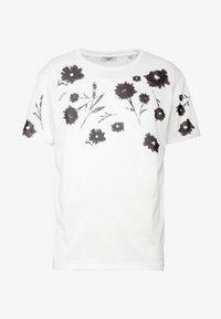 Jack & Jones PREMIUM - TIME TEE CREW NECK - T-shirt med print - blanc de blanc - 4