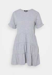 Missguided Petite - FRILL SLEEVE TIERED SMOCK DRESS - Day dress - grey - 0