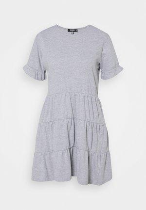 FRILL SLEEVE TIERED SMOCK DRESS - Korte jurk - grey