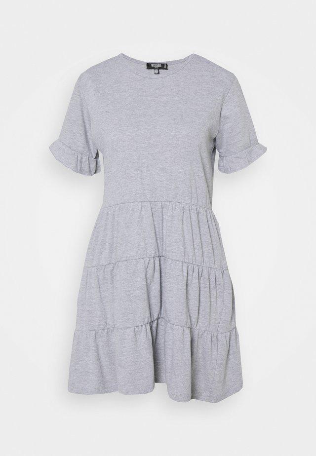 FRILL SLEEVE TIERED SMOCK DRESS - Kjole - grey