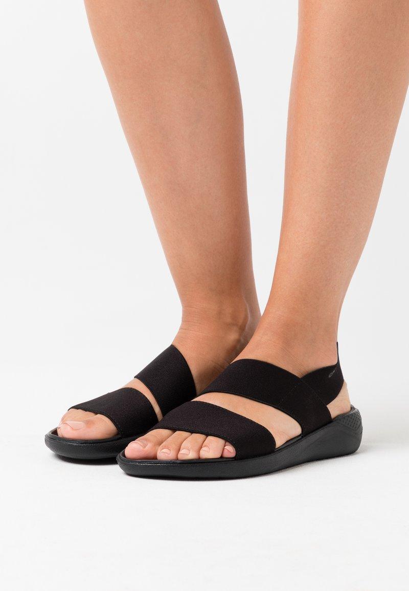 Crocs - LITERIDE STRETCH  - Kapcie - black