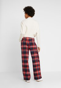 s.Oliver - WIDE LEG - Trousers - red - 2