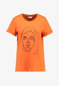 Kaffe - T-shirt imprimé - burnt orange - 3