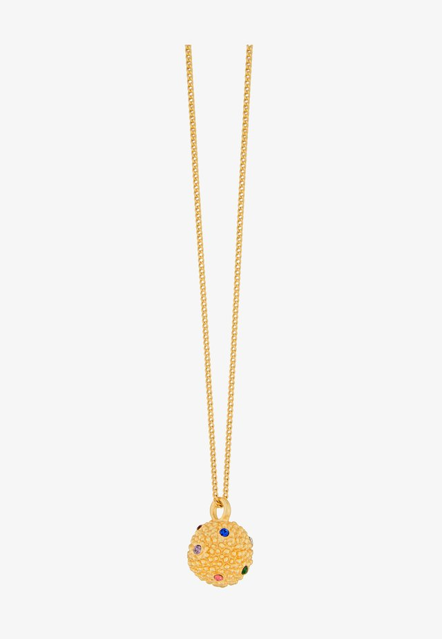 AMBER RAINBOW BALL - Ketting - gold plating