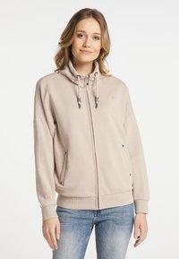 DreiMaster - Zip-up hoodie - beige - 0