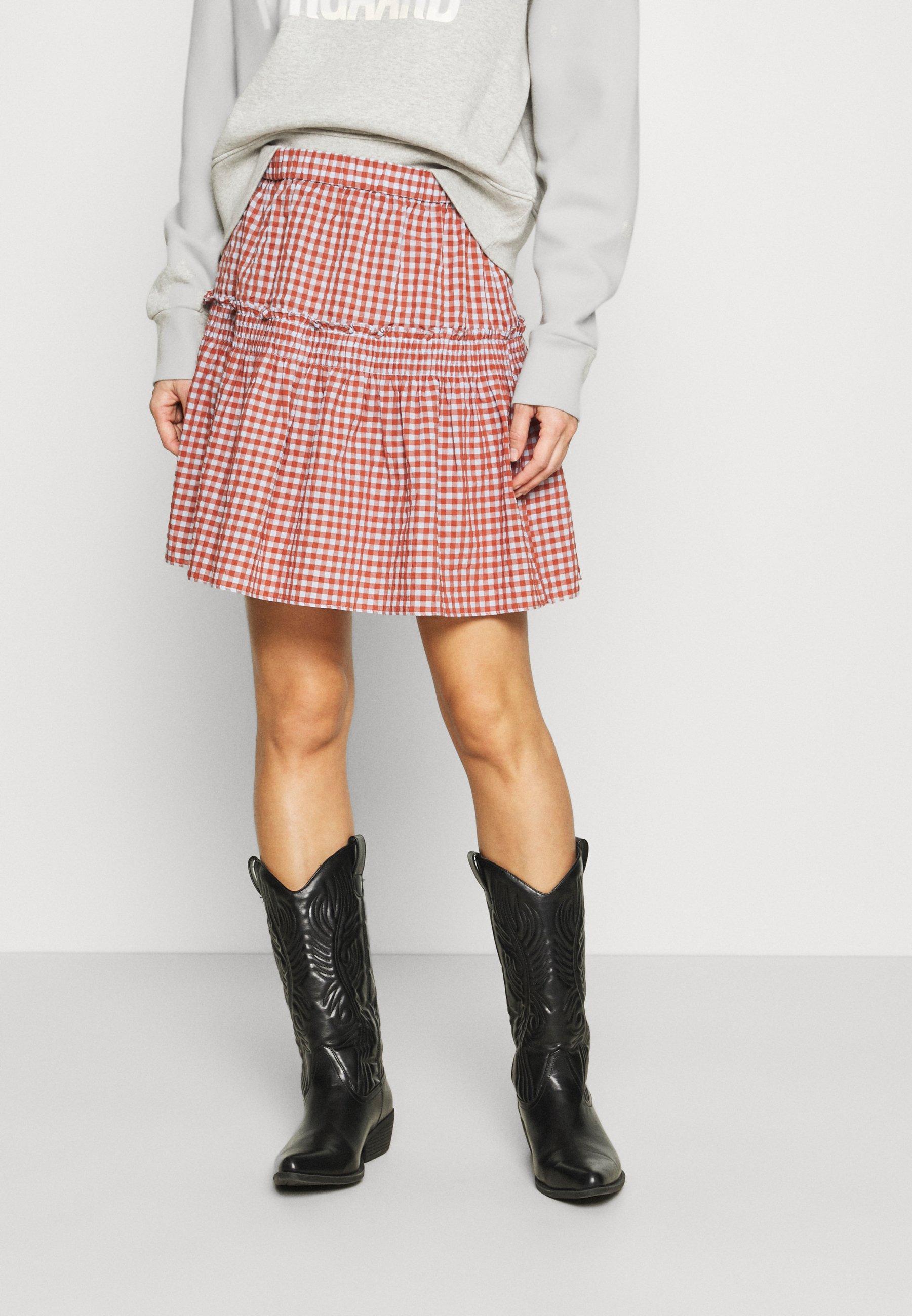 Mujer SMOCKED MINI SKIRT  - Minifalda