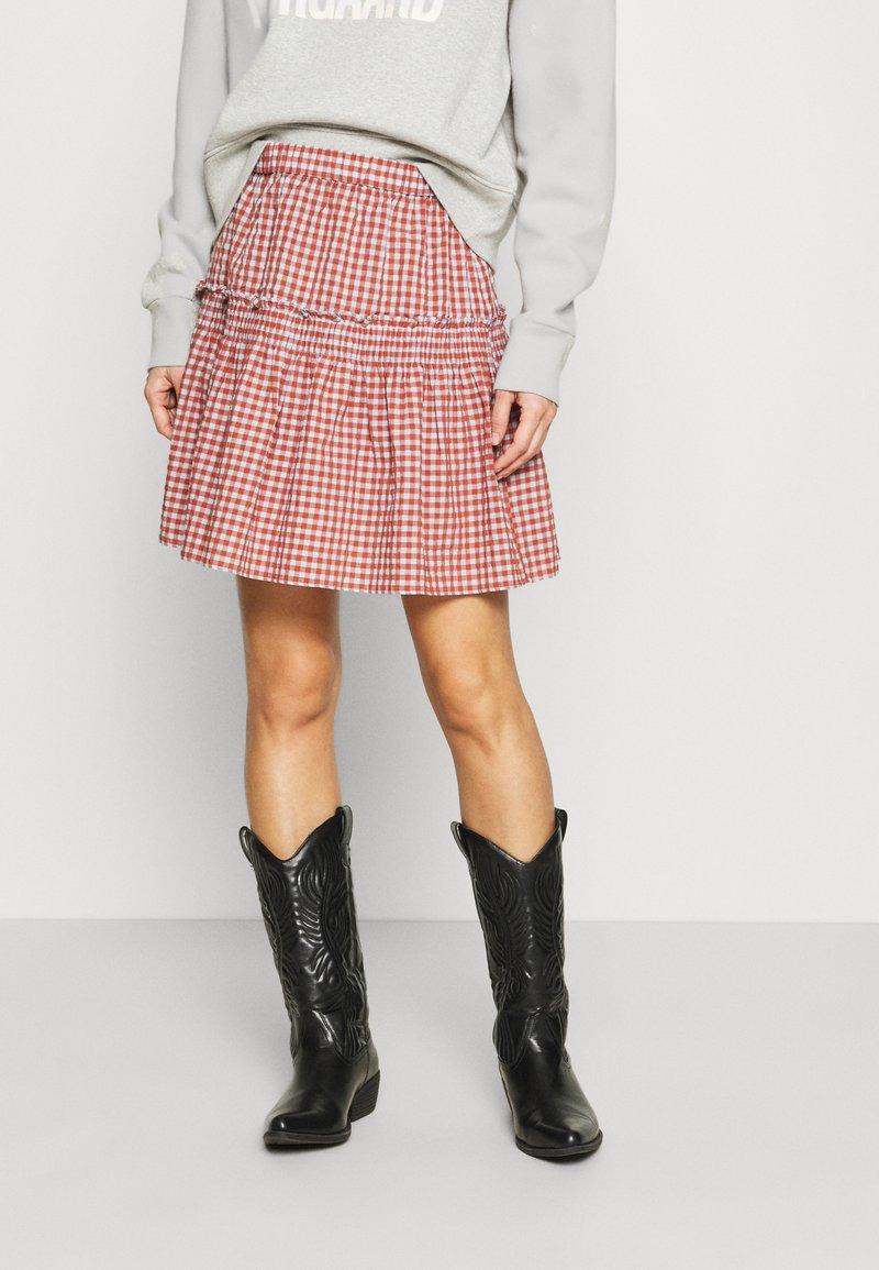 Madewell - SMOCKED MINI SKIRT  - Mini skirt - pale dawn