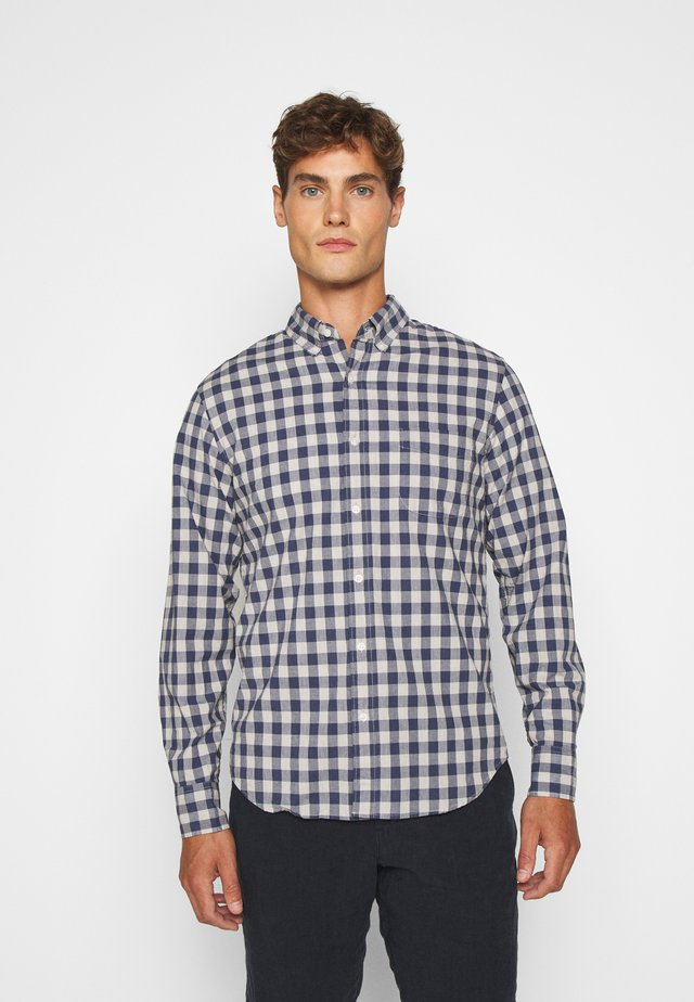 WASH HEATHER - Shirt - grey/blue