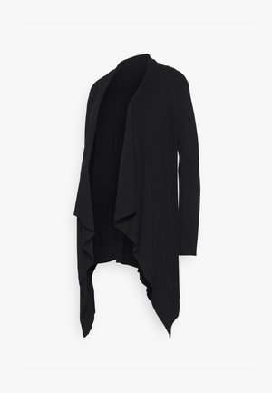 MATERNITY WATERFALL CARDIGAN - Cardigan - black