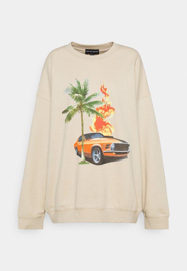 RETRO GRAPHIC - Sweatshirt - cream