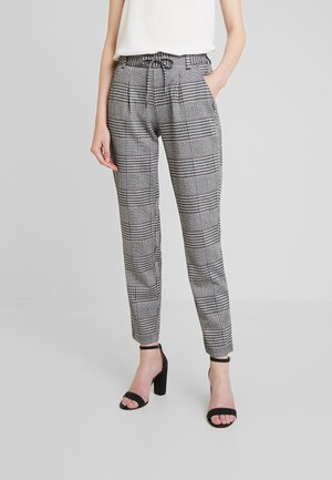 PATTERNED TRACK PANTS - Trousers - black/white