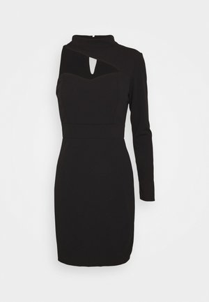 TURTLE NECK STYLE MINI DRESS - Cocktail dress / Party dress - black