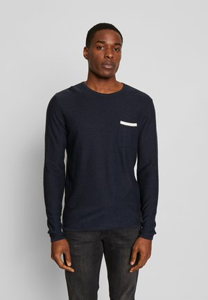 JOEY O-NECK POCKET - Strikpullover /Striktrøjer - navy mela