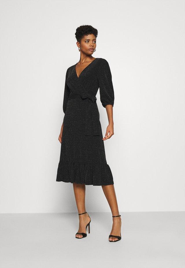 YASSCARLET DRESS - Jersey dress - black/silver