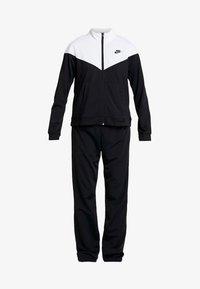 Nike Sportswear - TRACK SUIT SET - Zip-up sweatshirt - black/white - 3