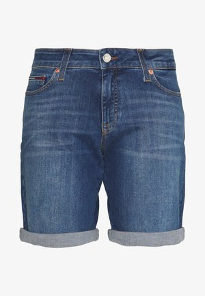 MID RISE DENIM BERMUDA  - Denim shorts - audrey mid blue stretch
