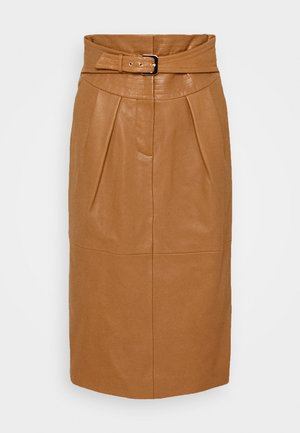 PIECES SKIRT - Spódnica ołówkowa  - brown